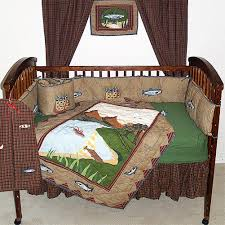 gone fishing crib bedding sets cabin place