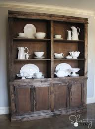 diy dining room sideboard and hutch restoration hardware style