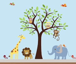 Safari Nursery Wall Decals Colorfull Safari Nursery Jungle Wall Decal By Nurserywallart