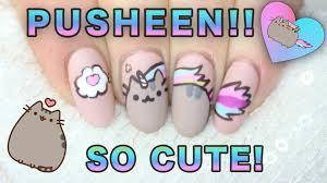 pusheen unicorn pusheenicorn cat nail art youtube