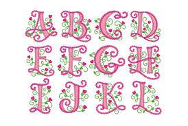 create monogram initials coupon codes alphabet applique machine embroidery design