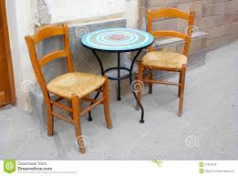 Used Restaurant Tables And Chairs Chairs And Table Street Coffee Restaurant Stock Photography