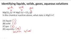 Solid Liquid Gas Periodic Table Identifying Liquids Solids Gases Aqueous Solutions Youtube