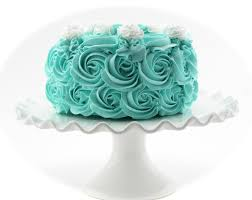 rosette fake cake turquoise frosting approx 6 75w x