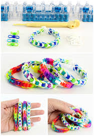looms bracelet maker images Easy rainbow loom bracelet with perler beads dabbles babbles jpg