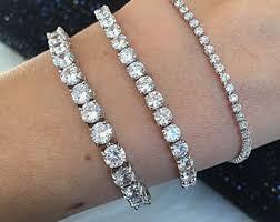 gold plated tennis bracelet images Chain link bracelets etsy jpg