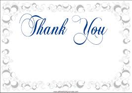 free thank you cards fantastic printable free thank you card template model