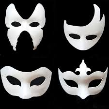 party mask 2018 diy white paper unpainted party mask various venetian women