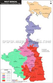 2014 Election Map by West Bengal General Lok Sabha Elections 2014 Parliamentary
