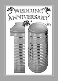 10th wedding anniversary 10th wedding anniversary greeting card 709142 moggies and more