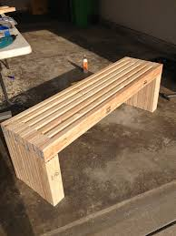 Wooden Outdoor Lounge Furniture Exterior Simple Idea Of Long Diy Patio Bench Concept Made Of
