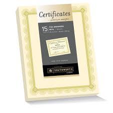 resume color paper amazon com southworth premium weight foil enhanced certificates amazon com southworth premium weight foil enhanced certificates 8 5 x 11 inches 66 lb spiro design ivory with gold foil 15 count ctp2v academic