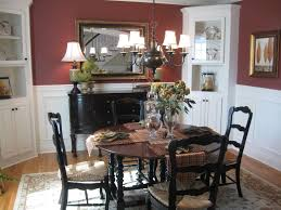 casual french country dining room mercer brown wood modern chairs