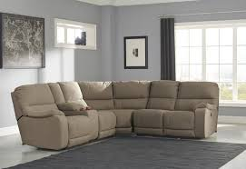 ashley leather sofa recliner buy ashley furniture bohannon taupe powered reclining sectional