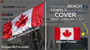 Giant Canadian Flag The Great Canadian Flag 3 Act Math Canada150math Challenge