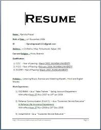 resume format exles format of a resume basic 13 best formats 47 free