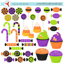 halloween candy clipart set clip art set of candy sweets