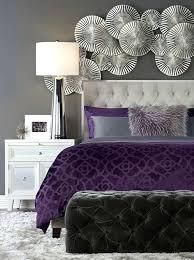 chambre violette et grise interieur chambre violet lit design photo