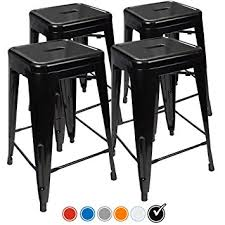 Amazoncom  Counter Height Bar Stools BLACK By UrbanMod - Hyland counter height dining room table with 4 24 barstools