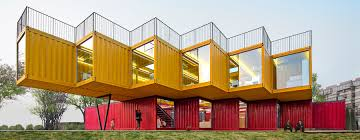 people u0027s architecture office stacks shipping containers for