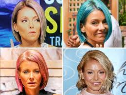 kelly ripper hair style now kelly ripa dyes hair opal see her many hair transformations