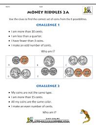 Bar Graph Worksheets 3rd Grade Coin Riddles For 2nd Grade Pinterest Math Math