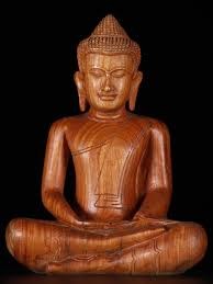 meditating cambodian wood buddha statue http www dharmasculpture
