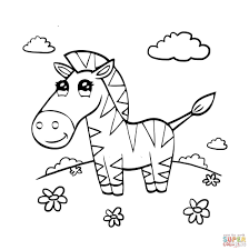 coloring pages kids cute zebra coloring page preschool pages