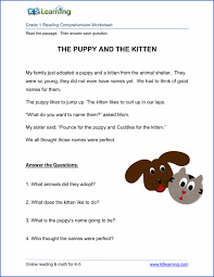reading comprehension grade free printable grade reading comprehension worksheets k5
