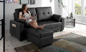 canapé avec repose pied canapé lit modelant eco de groupon