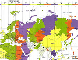 Map Of World Time Zones Maps And Route Of Asian Adventures Part Ii