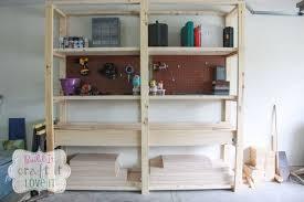 Wood Shelves Plans Garage by Easy Diy Garage Shelving Hometalk