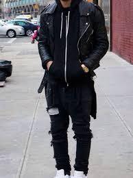 Black Leather Scrapbook Jacket Leather Jacket Hoodie Black Black Leather Jacket