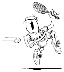tennis coloring pages sport coloring pages of