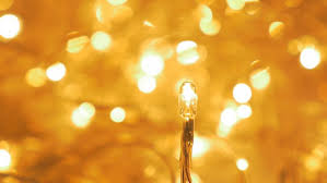 gold color lot of warm decorative led lights for festive