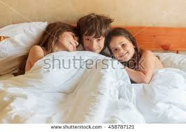 Girls In Bed by Young Children Boy Girls Sleeping Bed Stock Photo 458787121