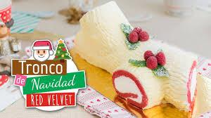 red velvet christmas trunk roll cake youtube