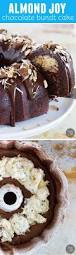 almond joy candy bar filled chocolate bundt cake taste and tell