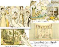 collage clipart victorian era pencil and in color collage