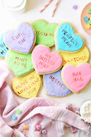 conversation hearts how to make conversation heart cookies the butter half