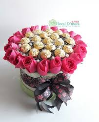 chocolate flowers lb0088 chocolate flower box floral d mora 花之屋语