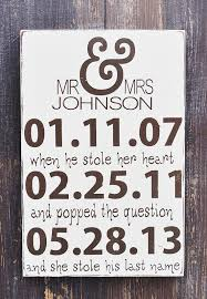 wedding gift personalized personalized wedding sign engagement gift wedding gift