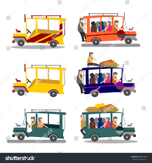jeep philippine filipino jeep loaded philippine jeep on stock vector 246827470