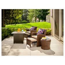 6 Piece Patio Set by Halsted 6 Piece Wicker Patio Fire Chat Set Threshold Target
