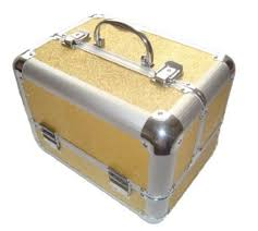 Make Up Vanity Case Buy Sparkly Gold Aluminium Beauty Make Up Vanity Case Box Nail
