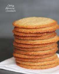 crisp almond cookies recipe almond cookies cookies and almonds