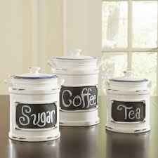 kitchen canisters sets chalk board canisters set of 3 full size