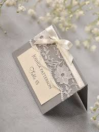 custom listing 56 grey lace place card vintage tented place