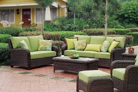 Outdoor Wicker Patio Furniture Sets Furniture Ideas Outdoor Patio Furniture Cushions With Green