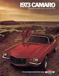 1970 1973 camaro for sale gm 1973 chevrolet camaro sales brochure